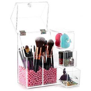 Organizador brochas para maquillaje