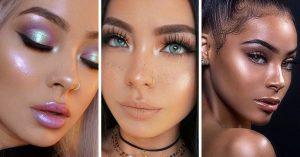 Maquillaje con iluminador